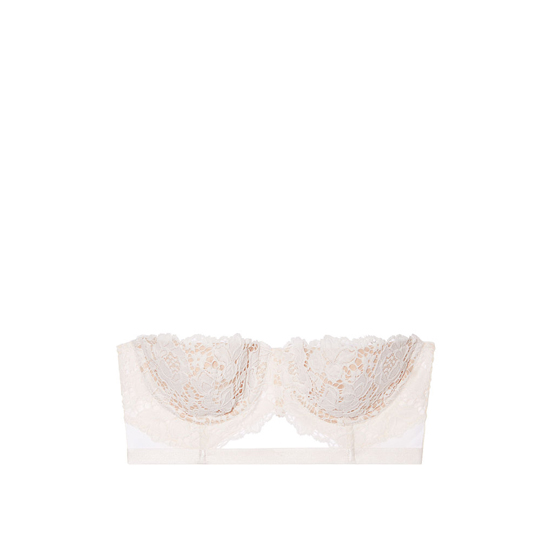 Cheap VICTORIA\'S SECRET Coconut White With New Nude Strapless Lace Bustier Online
