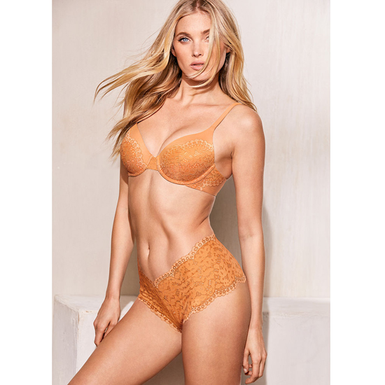 Cheap VICTORIA\'S SECRET Gold Earth With Peach Pie Crossdye NEW! Perfect Coverage Bra Online