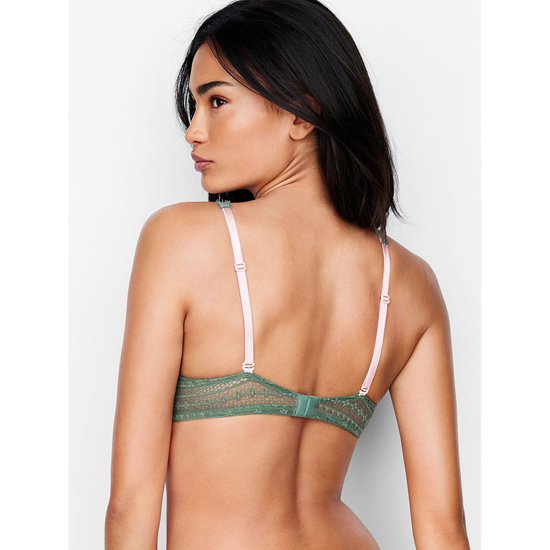 Cheap VICTORIA\'S SECRET Cadette Green Lace Perfect Coverage Bra Online
