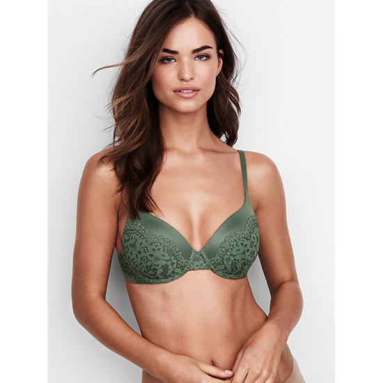 Cheap VICTORIA\'S SECRET Cadette Green Crochet Lace NEW! Perfect Coverage Bra Online