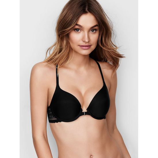 Cheap VICTORIA\'S SECRET Black Triangle Lace Racerback Perfect Coverage Bra Online