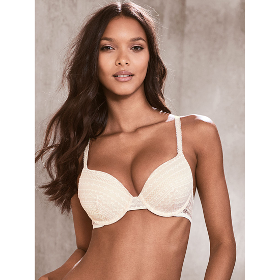 Cheap VICTORIA\'S SECRET Coconut White Lace Perfect Coverage Bra Online