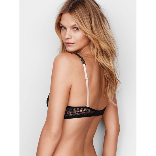 Cheap VICTORIA\'S SECRET Black Lace NEW! Perfect Coverage Bra Online