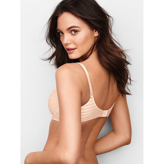 Cheap VICTORIA\'S SECRET Coconut White Textured Stripe NEW! Perfect Shape Bra Online