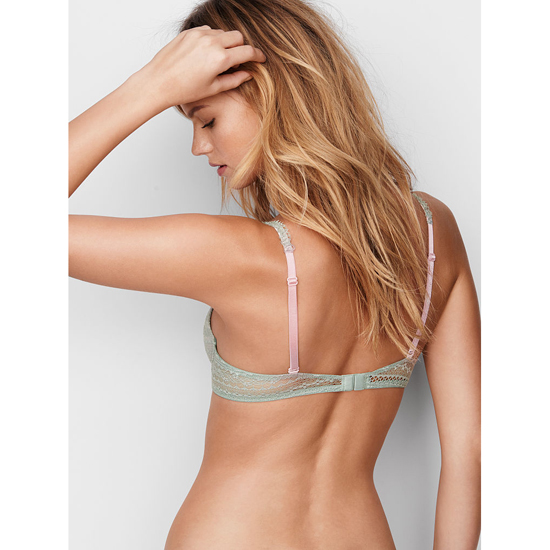 Cheap VICTORIA\'S SECRET Silver Sea Lace Perfect Coverage Bra Online