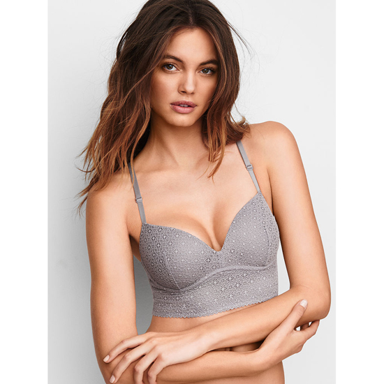 Cheap VICTORIA'S SECRET Sterling Pewter Lace NEW! Easy Push-Up Bra Online