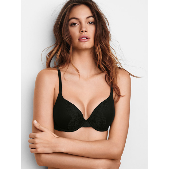 Cheap VICTORIA\'S SECRET Black W/ Black Lace Perfect Shape Bra Online