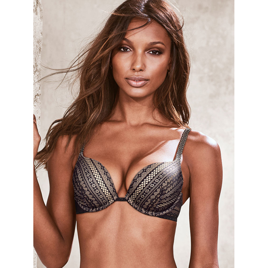 Cheap VICTORIA\'S SECRET Black Lace Push-Up Bra Online