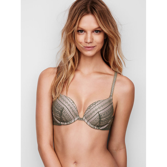 Cheap VICTORIA\'S SECRET Cadette Green Lace Push-Up Bra Online
