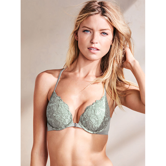 Cheap VICTORIA\'S SECRET Silver Sea With Heaven Lace Back NEW! Push-Up Bra Online