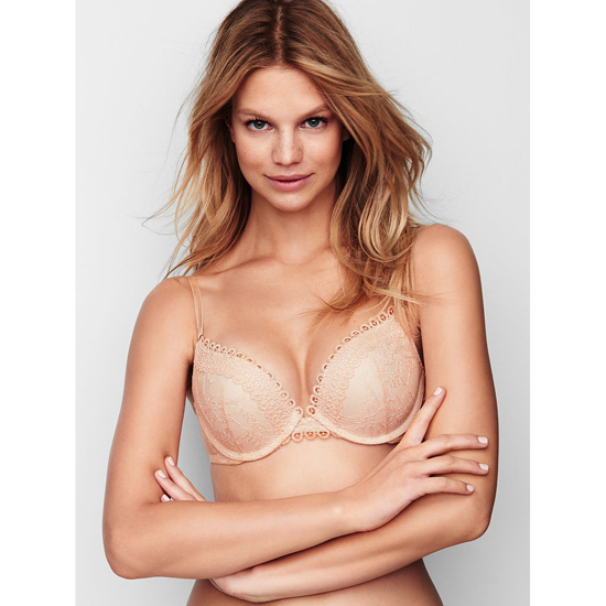 Cheap VICTORIA\'S SECRET Champagne Crochet Lace NEW! Push-Up Bra Online