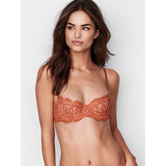 Cheap VICTORIA\'S SECRET Ginger Glaze Lace The Unlined Uplift Bra Online