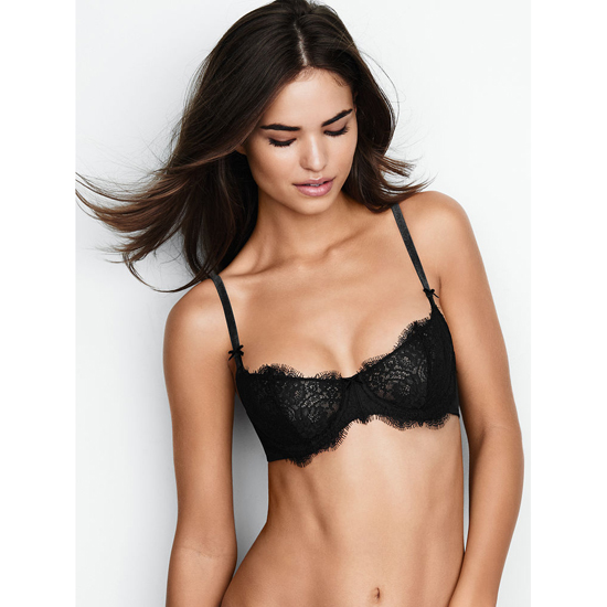 Cheap VICTORIA'S SECRET Black Lace The Unlined Uplift Bra Online