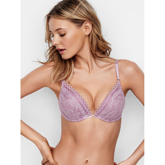 Cheap VICTORIA\'S SECRET Fair Orchid Crochet Lace NEW! Add-2-Cups Push-Up Bra Online