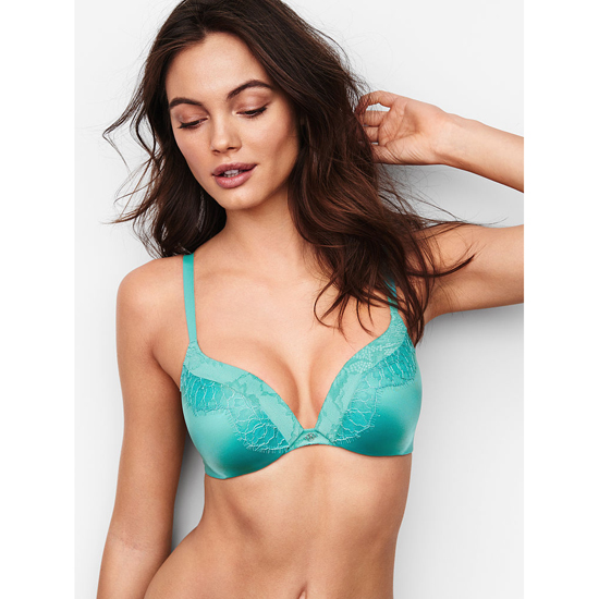 Cheap VICTORIA\'S SECRET Cozumel Teal NEW! Add-1½-Cups Push-Up Bra Online