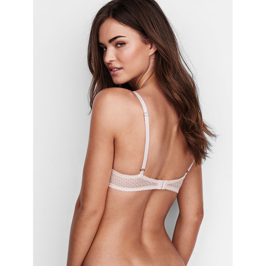 Cheap VICTORIA\'S SECRET Coconut White Solid Lace Push-Up Bra Online