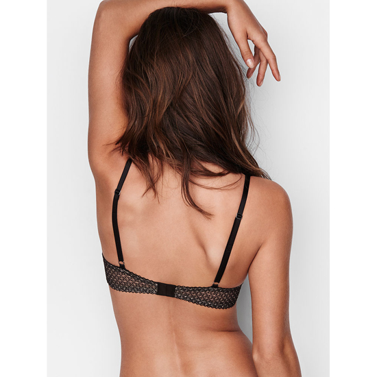 Cheap VICTORIA\'S SECRET Black Solid Lace Push-Up Bra Online