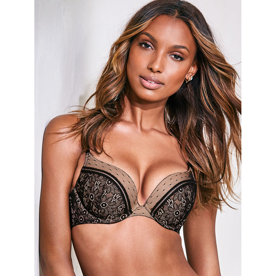 Cheap VICTORIA\'S SECRET Black Wildflower Lace NEW! Push-Up Bra Online
