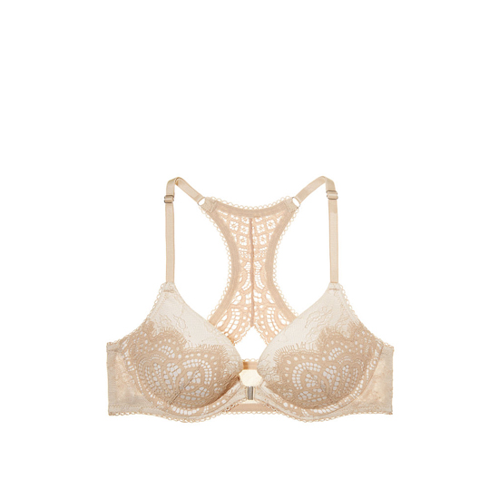Cheap VICTORIA\'S SECRET Front-Close Sugar Cookie Lace With Chantilly Lace Push-Up Bra Online