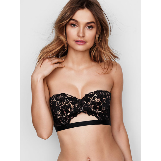 Cheap VICTORIA'S SECRET Black With New Nude Strapless Lace Bustier Online