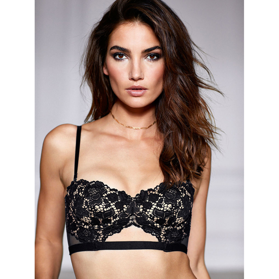 Cheap VICTORIA\'S SECRET Black With New Nude Strapless Lace Bustier Online