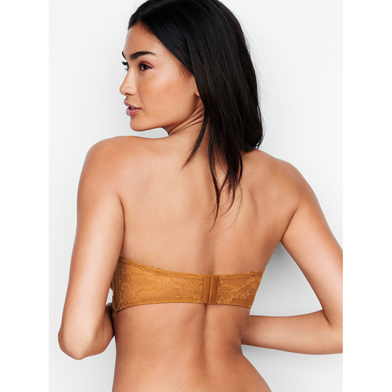 Cheap VICTORIA\'S SECRET Bronze Brown NEW! Lace & Mesh Unlined Strapless Bra Online