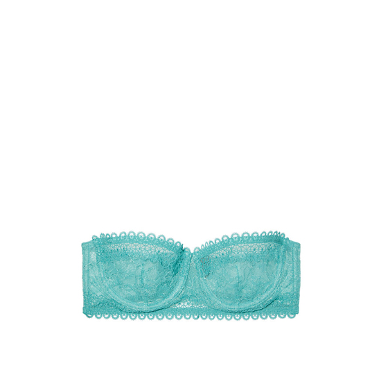 Cheap VICTORIA\'S SECRET Cozumel Teal NEW! Lace & Mesh Unlined Strapless Bra Online