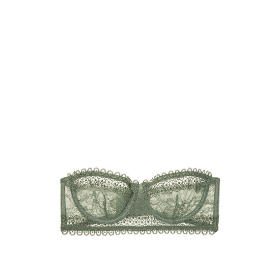Cheap VICTORIA\'S SECRET Cadette Green NEW! Lace & Mesh Unlined Strapless Bra Online