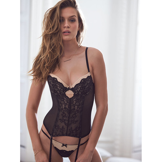 Cheap VICTORIA'S SECRET Black Lace Bustier Online