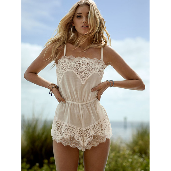 Cheap VICTORIA\'S SECRET Coconut White NEW! Crochet Lace Romper Online