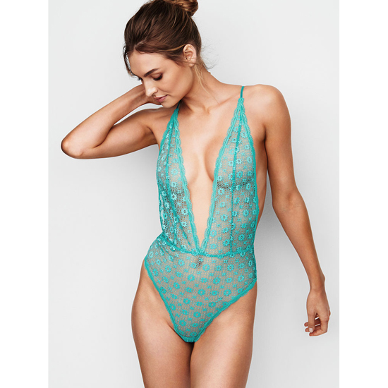 Cheap VICTORIA\'S SECRET Cozumel Teal Teddies & Bodysuits Online