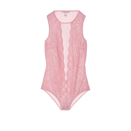 Cheap VICTORIA\'S SECRET Winter Rose NEW! Lace & Mesh Bodysuit Online
