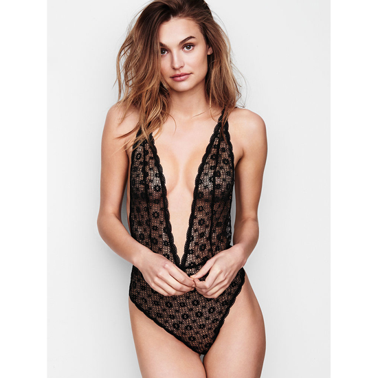 Cheap VICTORIA'S SECRET Black Teddies & Bodysuits Online