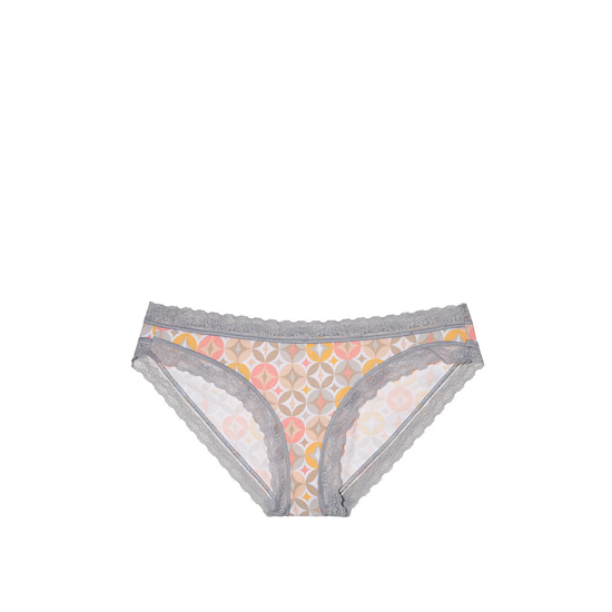 Cheap VICTORIA'S SECRET Retro Diamond Print Lace Trim NEW! Bikini Panty Online