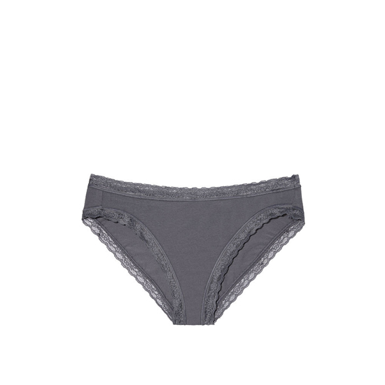 Cheap VICTORIA'S SECRET Black Pearl NEW! Lace-trim High-leg Brief Panty Online