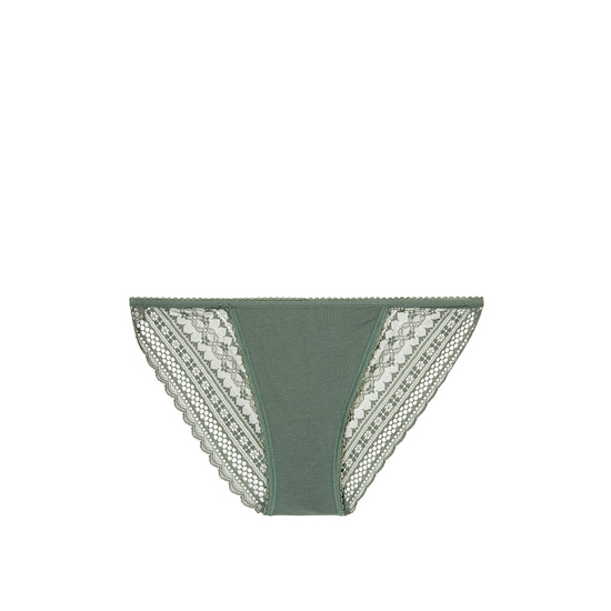 Cheap VICTORIA'S SECRET Cadette Green NEW! Lace-back String Bikini Panty Online