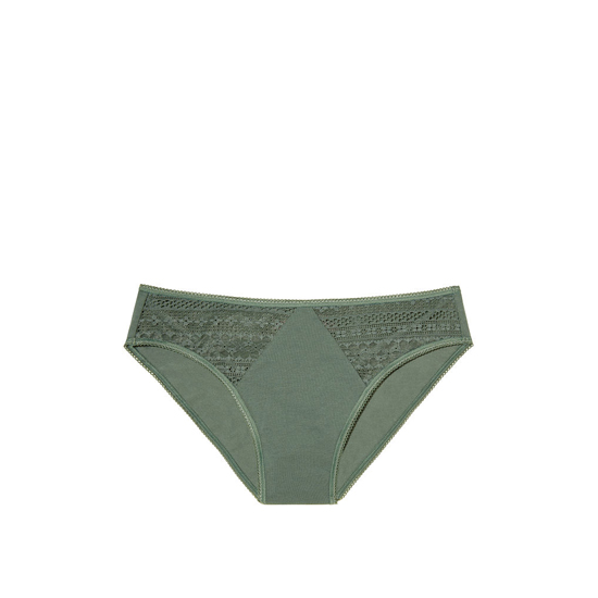 Cheap VICTORIA\'S SECRET Cadette Green NEW! Diamond Lace High-Leg Brief Panty Online