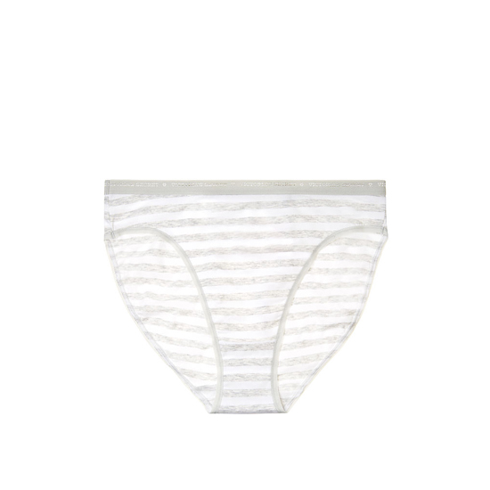 Cheap VICTORIA\'S SECRET Grey Stripe High-Leg Brief Panty Online