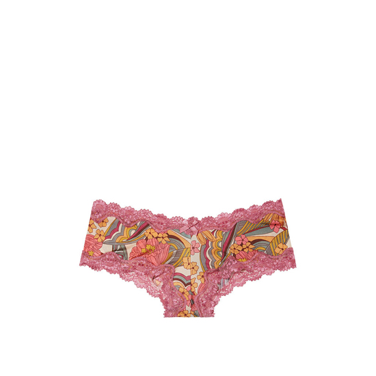 Cheap VICTORIA'S SECRET Geo Floral Print Lace-Trim Cheeky Panty Online