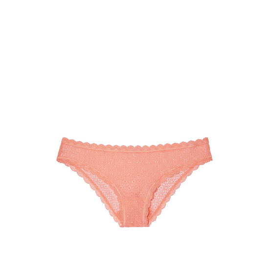 Cheap VICTORIA'S SECRET Lip Smacker Peach NEW! Lace Cheekini Panty Online