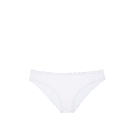 Cheap VICTORIA\'S SECRET White Lace Trim Lace-trim Cheekini Panty Online