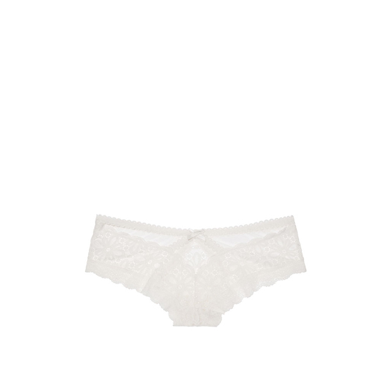 Cheap VICTORIA\'S SECRET Coconut White NEW! Lace & Mesh Cutout Cheeky Panty Online