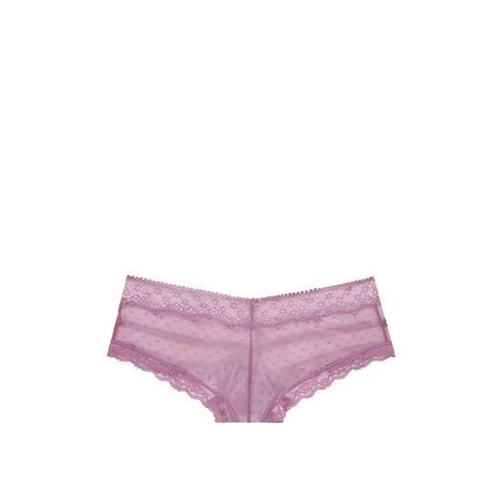 Cheap VICTORIA\'S SECRET Gentle Mauve NEW! Dot Lace & Mesh Cheeky Panty Online