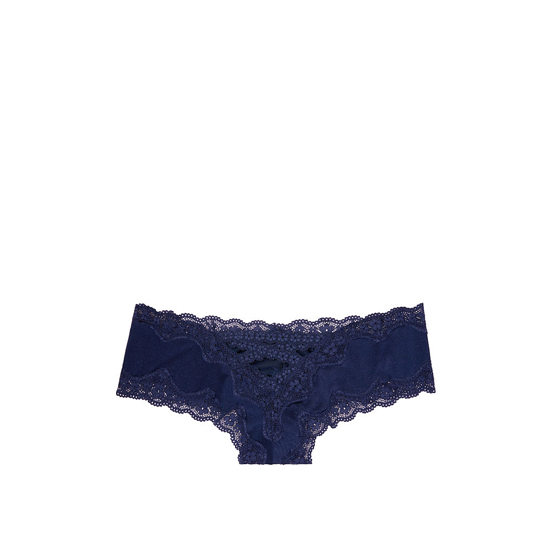 Cheap VICTORIA\'S SECRET Ensign Blue NEW! Strappy Lace-up Cheeky Panty Online