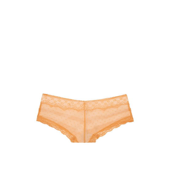 Cheap VICTORIA\'S SECRET Gold Earth Dot Lace & Mesh Cheeky Panty Online