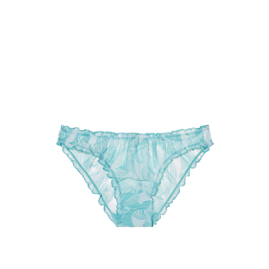 Cheap VICTORIA\'S SECRET Cozumel Teal Floral Print NEW! Ruffled Cheekini Bloomer Panty Online