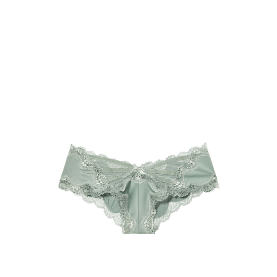 Cheap VICTORIA\'S SECRET Silver Sea Lace & Mesh Cheeky Panty Online