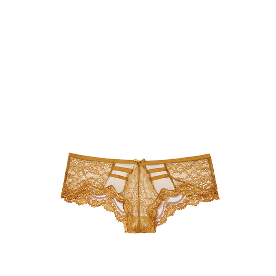 Cheap VICTORIA'S SECRET Bronze Brown NEW! Lace & Mesh Strappy Cheeky Panty Online