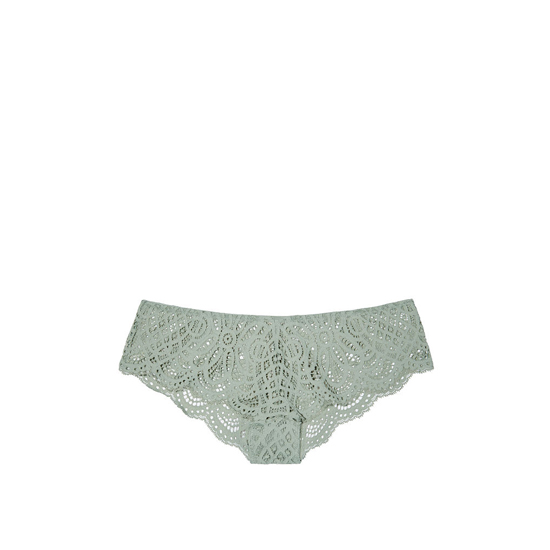 Cheap VICTORIA\'S SECRET Silver Sea NEW! Crochet Lace Cheekster Panty Online