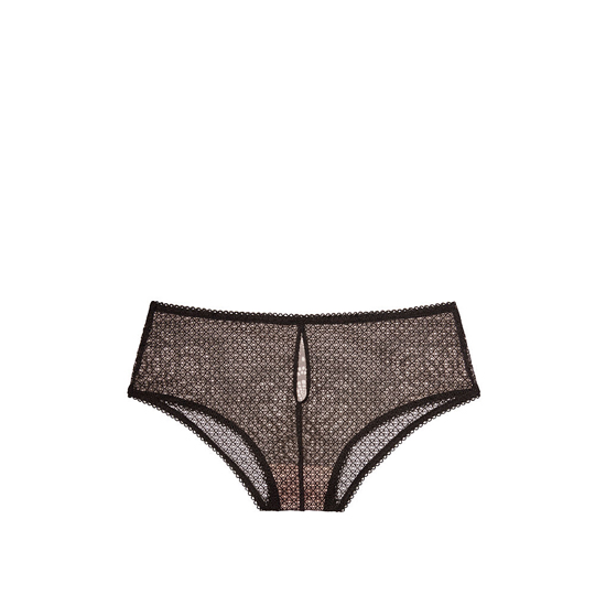 Cheap VICTORIA\'S SECRET Black NEW! Crochet Lace High-waist Cheeky Panty Online